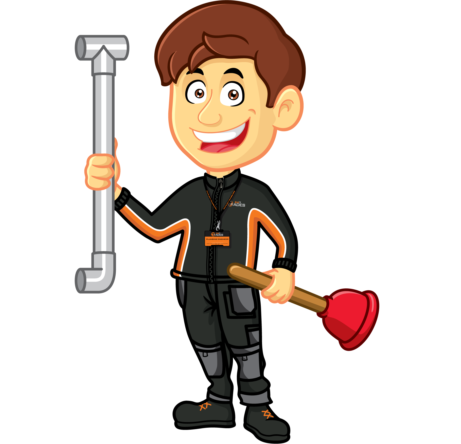trades plumbers in. Telephone clipart solid thing