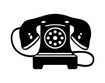 Rotary phone svg etsy. Telephone clipart vintage telephone