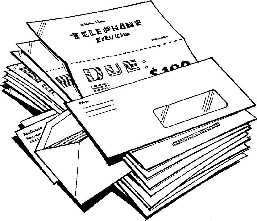 Cliparts zone . Telephone clipart telephone bill