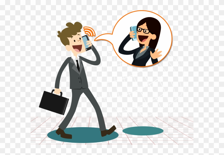 Telephone clipart telephone communication. Mobile phone talking cartoon