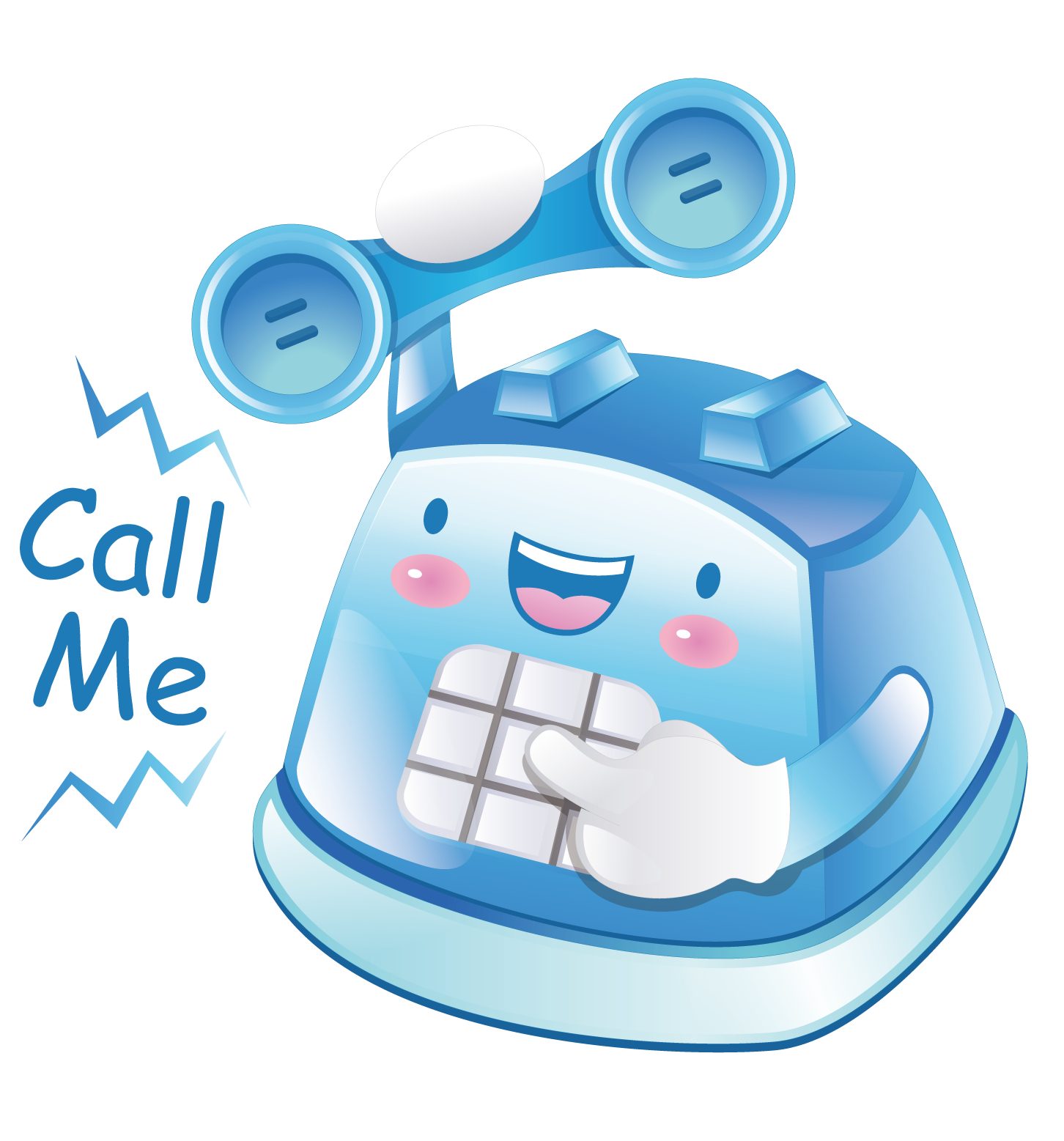 Telephone clipart toy phone. Booth mobile blue cartoon