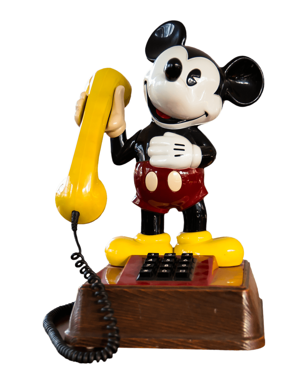 Telephone clipart toy phone. Vintage mickey mouse transparent