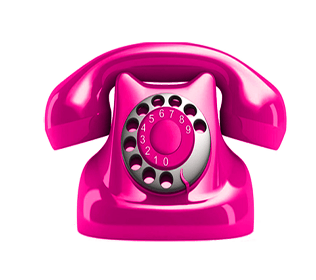 Telephone clipart cabin. Pink transparent image picture