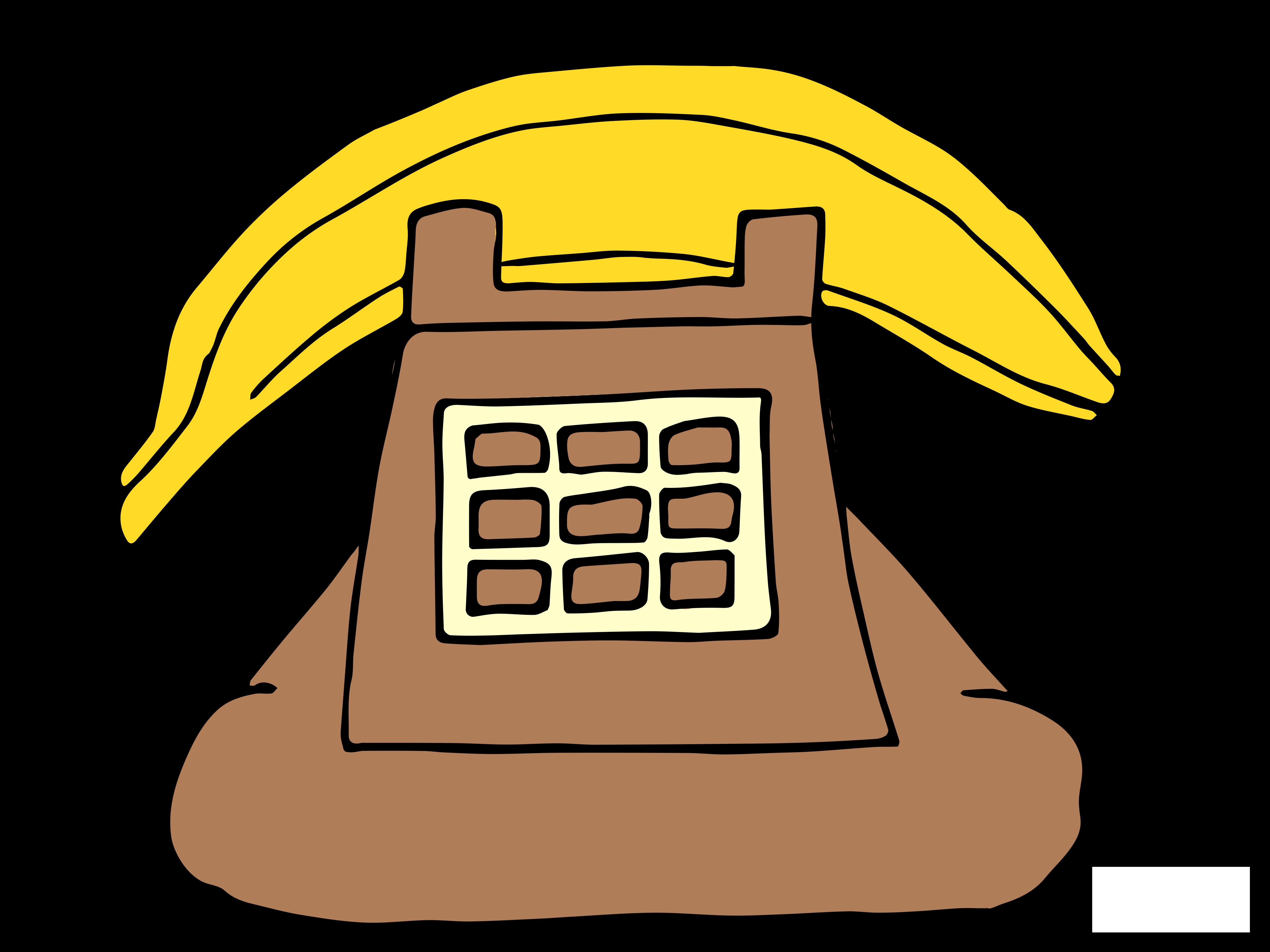 Camp . Clipart telephone yellow telephone