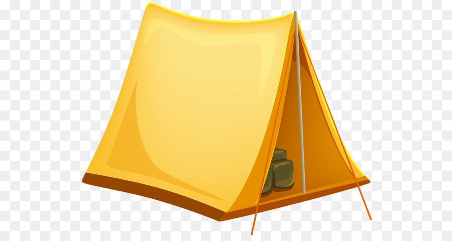 Cartoon camping yellow transparent. Clipart tent