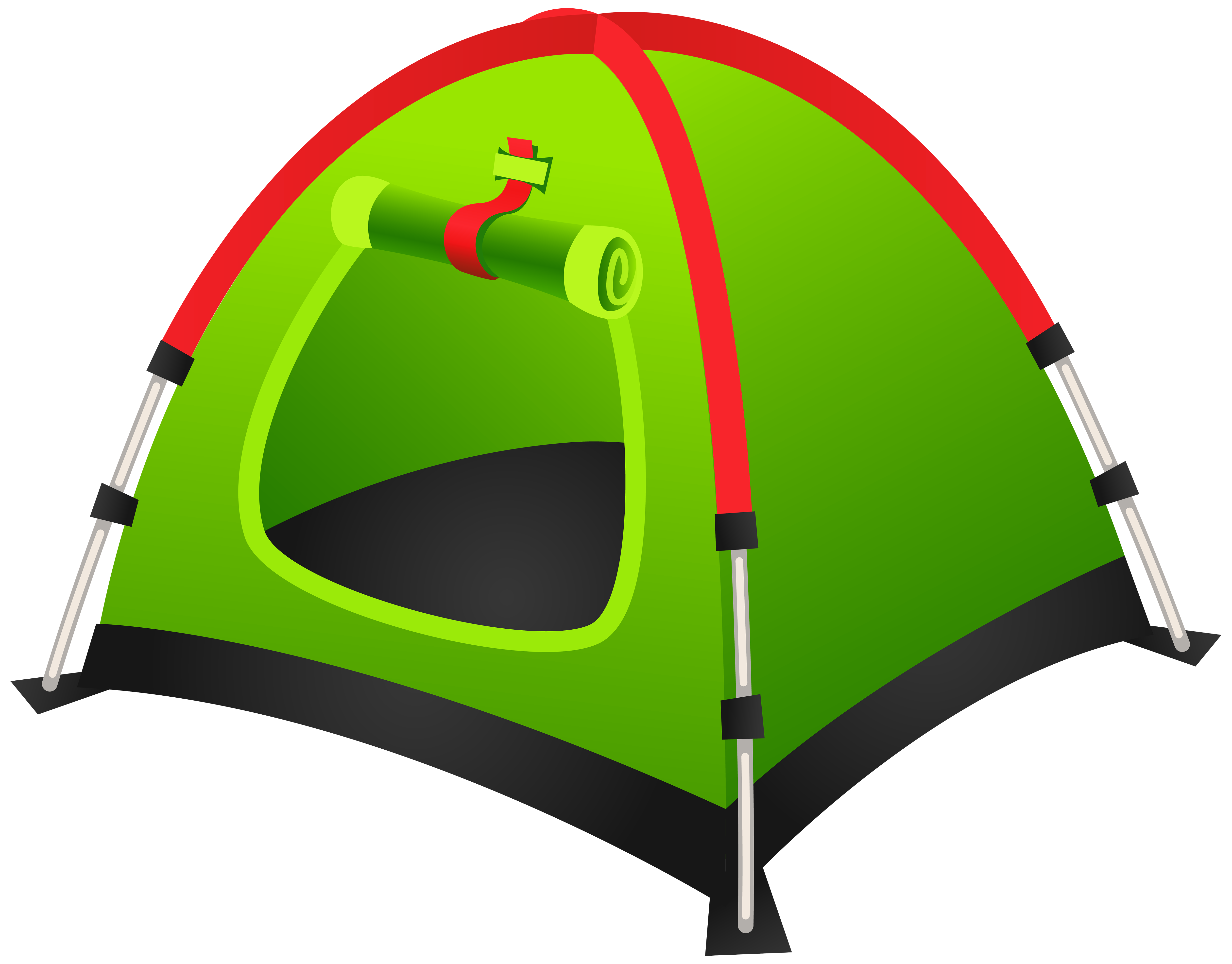 Tourist green png image. Clipart tent