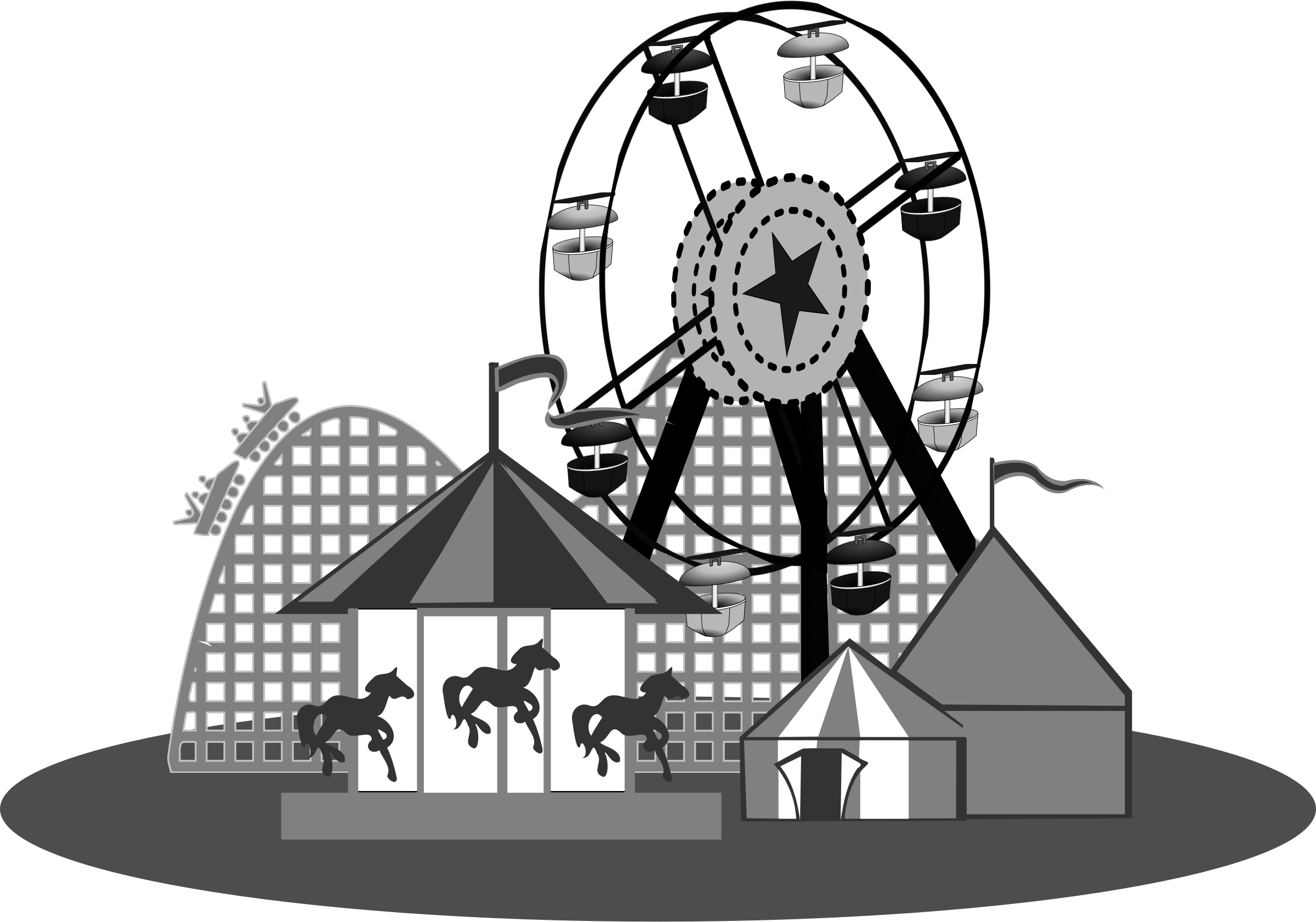 Lady clipart carnival.  collection of rides