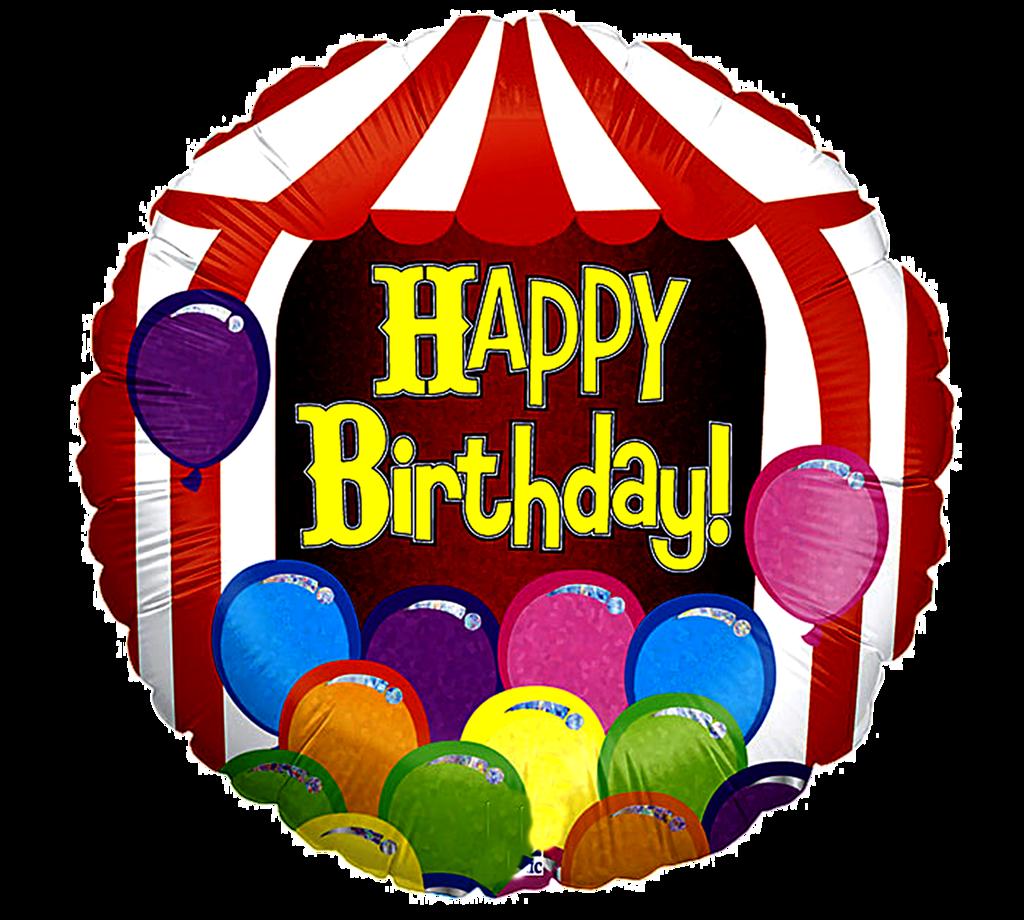 Ch b birthday clip. Clipart tent balloon
