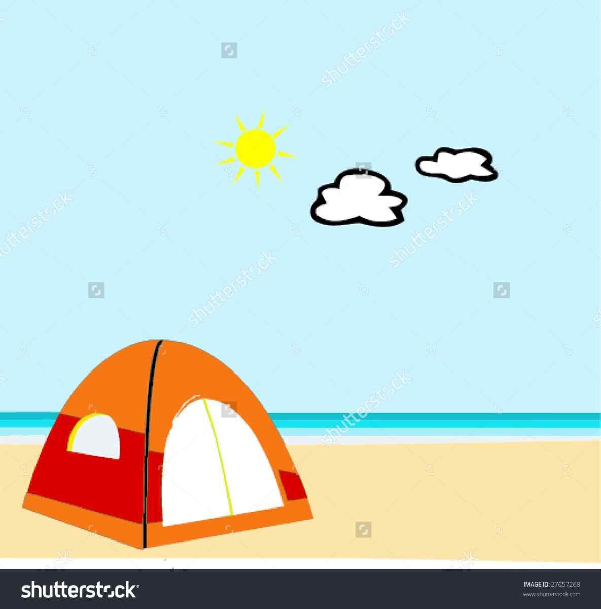. Clipart tent beach camping