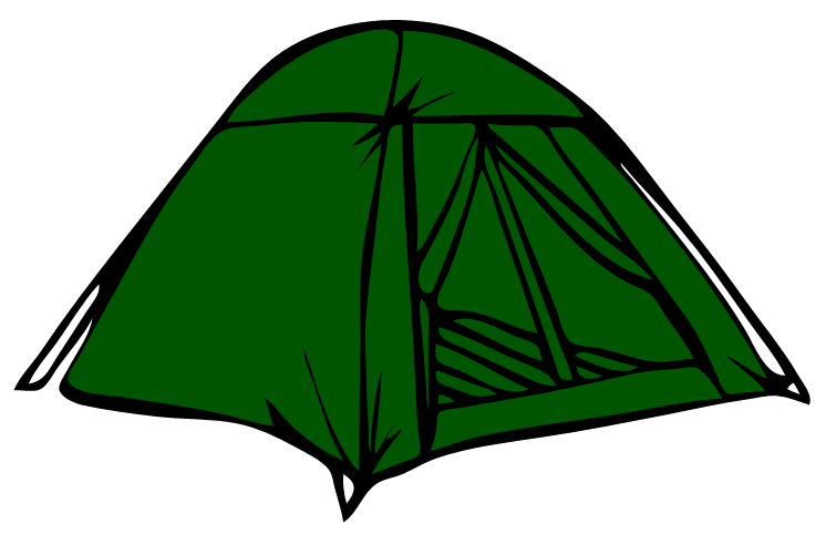 Silhouette every day little. Clipart tent bedouin tent