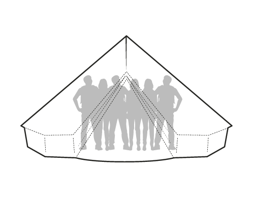 Sibley size comparison canvascamp. Clipart tent bell tent