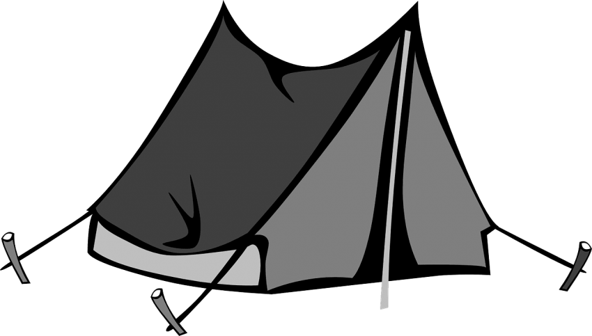 Clipart tent black and white. Png free images toppng
