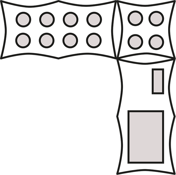 Clipart tent black and white. Examples of capri layouts
