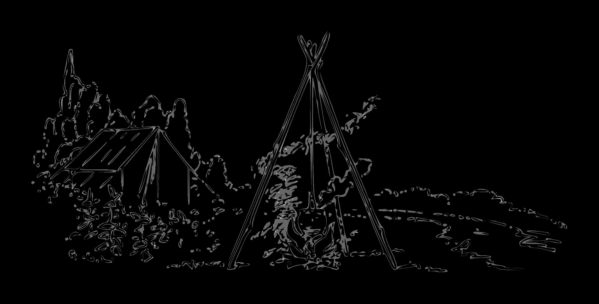 Lutz outline big image. Clipart tent campfire