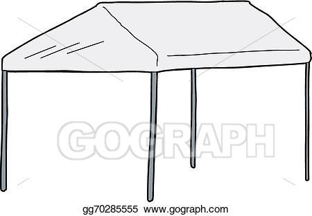 Vector art large car. Clipart tent canopy