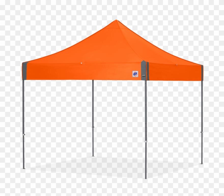 Orange pop up ez. Clipart tent canopy