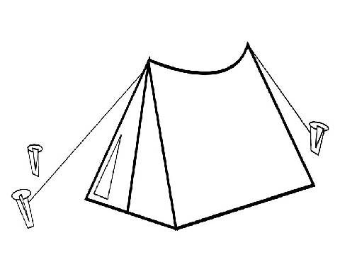 Tent In The Forest coloring page | Free Printable Coloring Pages | 370x480