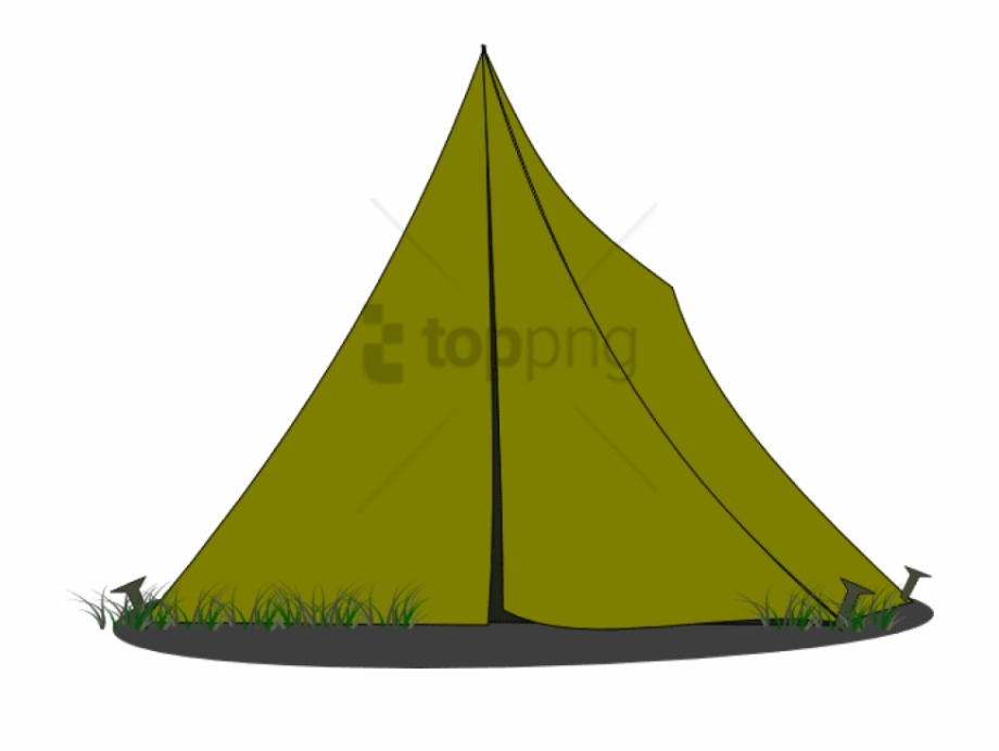 Transparent camping cartoon tents. Clipart tent comic