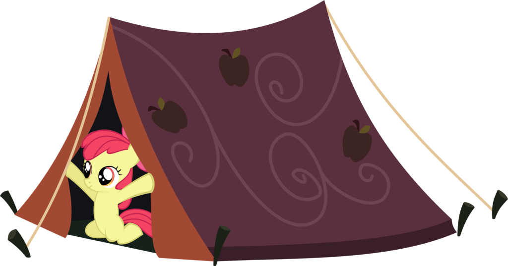 Clipart tent comic. Apple bloom in a