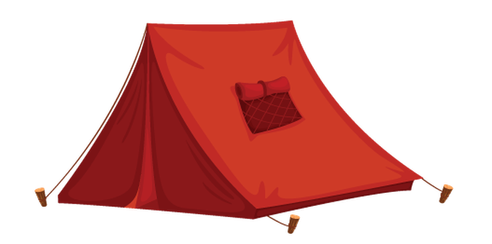 Clipart tent different object. Various objects of camping