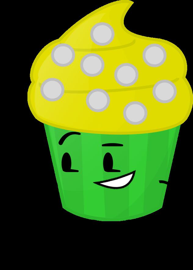 Image lemon cupcake pose. Lemons clipart yellow object