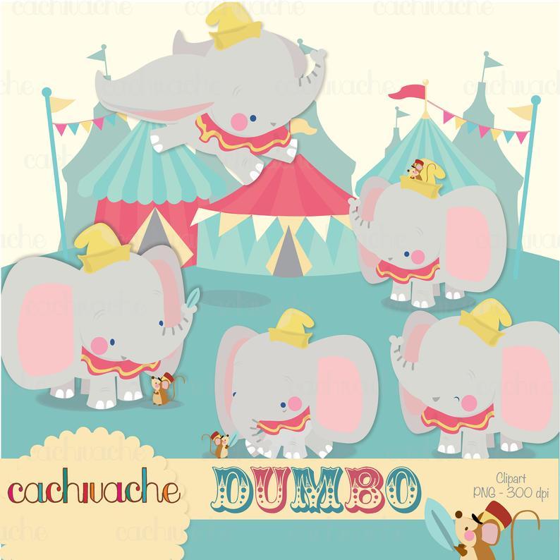 Disney cute little elephant. Clipart tent dumbo