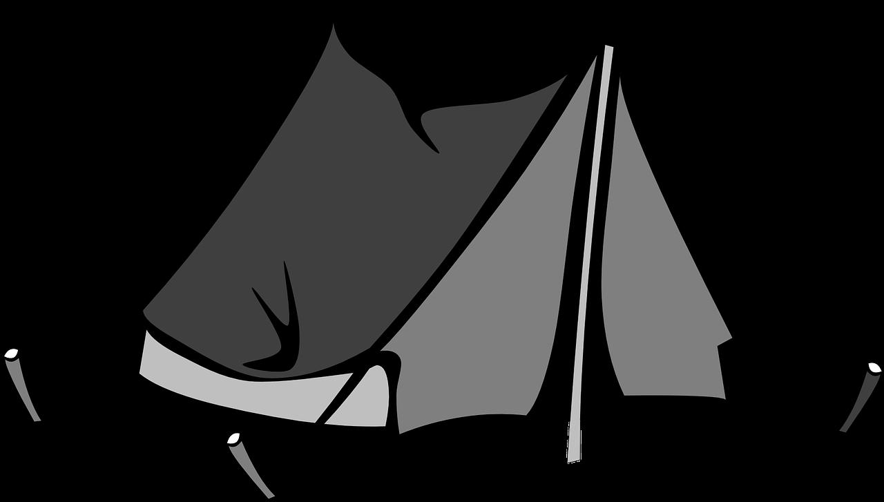 Clipart tent encampment. Black png image purepng