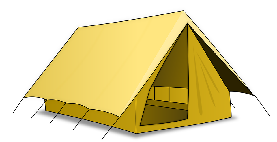 Clipart tent fair. Group camping free vector