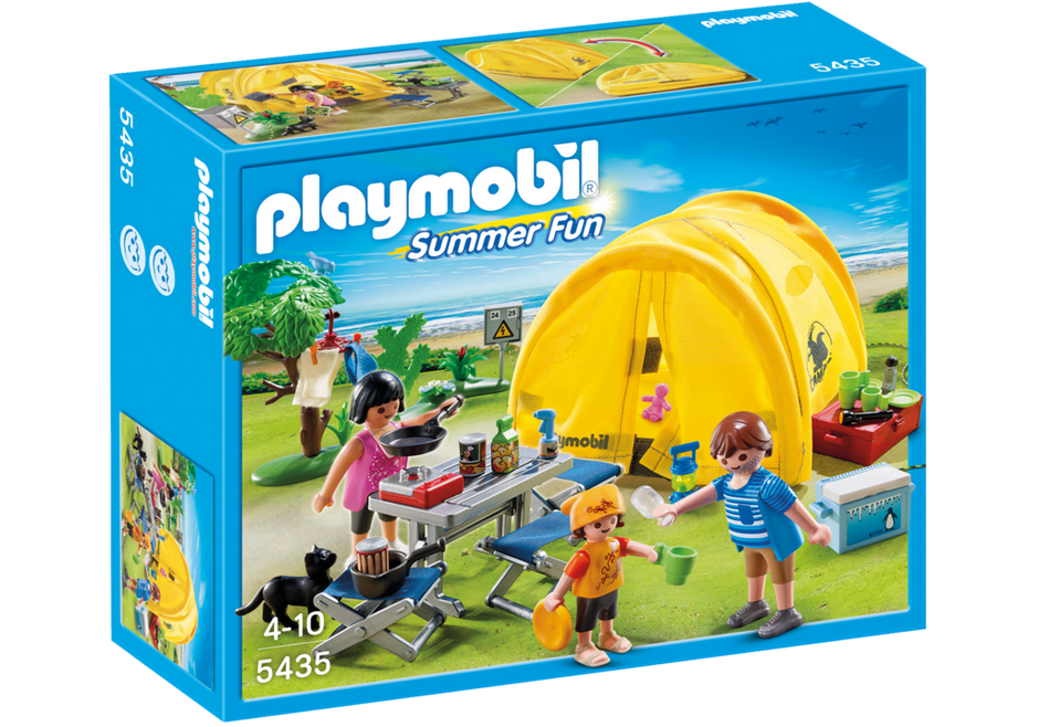 Clipart tent family camp. Camping trip playmobil usa