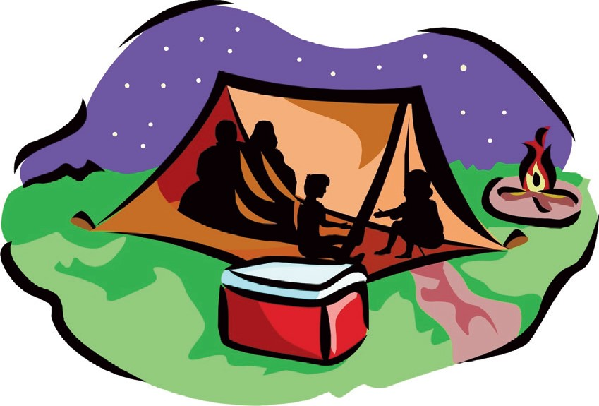 Scout camping . Clipart tent family camp