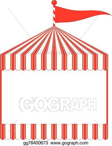 Vector illustration eps gg. Clipart tent fun fair tent