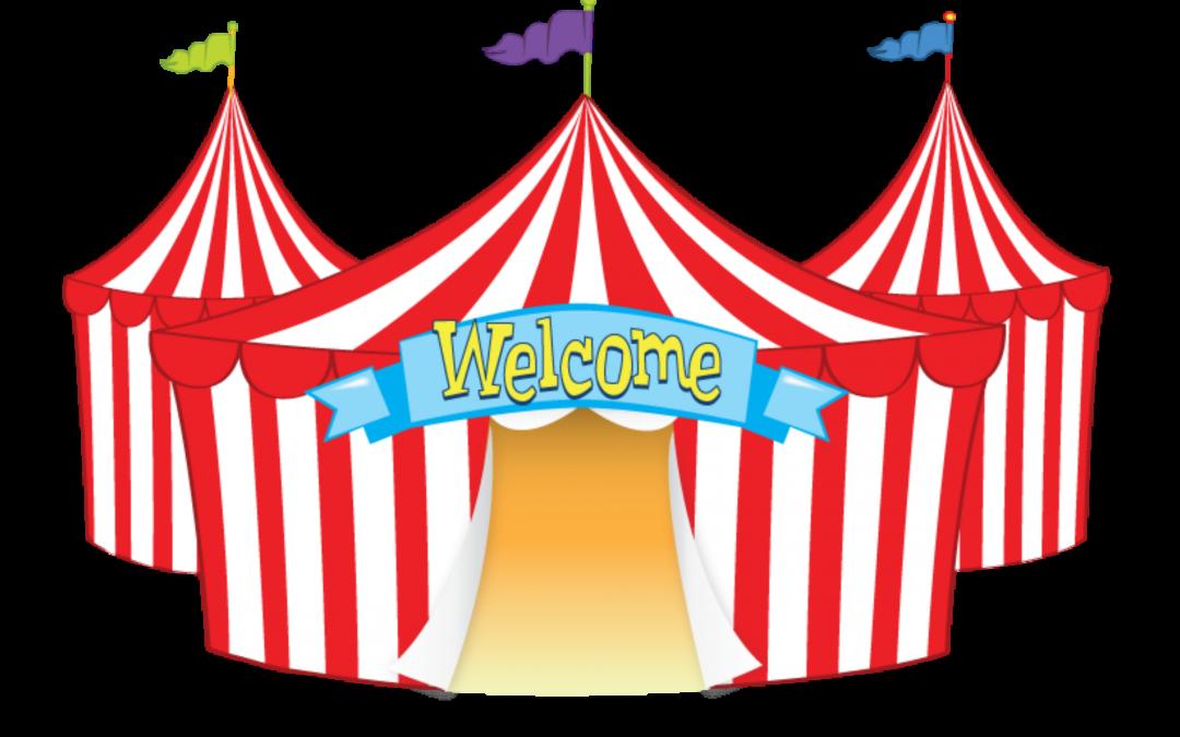 Clipart tent fun fair tent. Art clip circus transprent