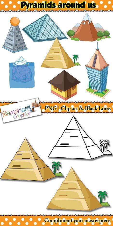Clipart tent math. Shapes d pyramid clip