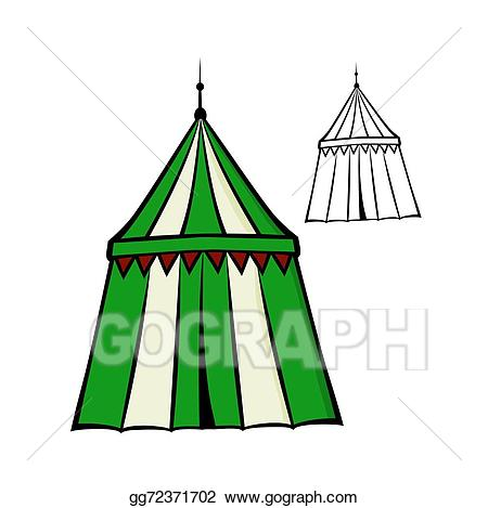 Vector art drawing gg. Clipart tent medieval tent