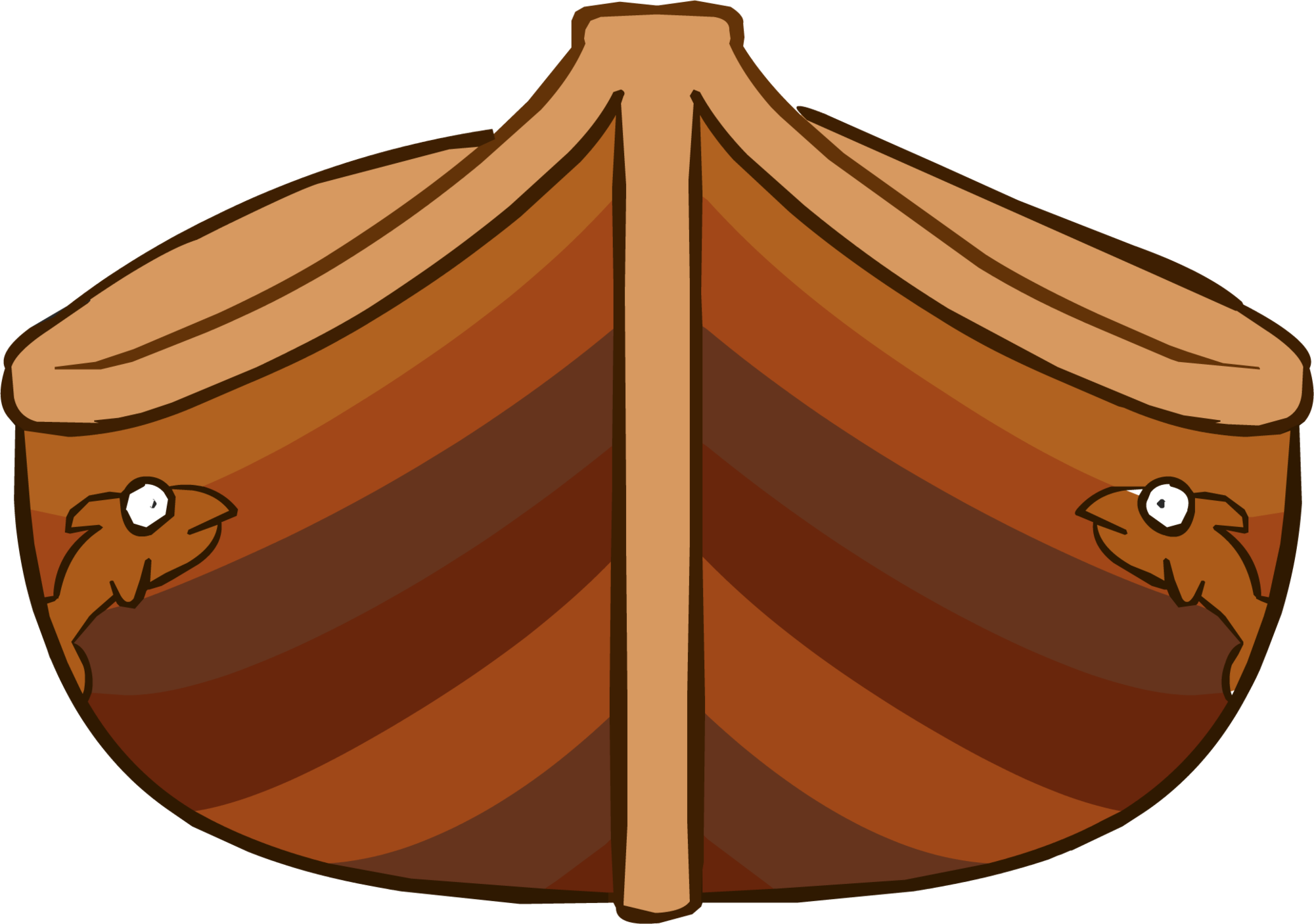 Clipart tent medieval tent. Wooden canoe club penguin