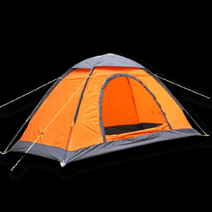One man single layer. Clipart tent orange tent
