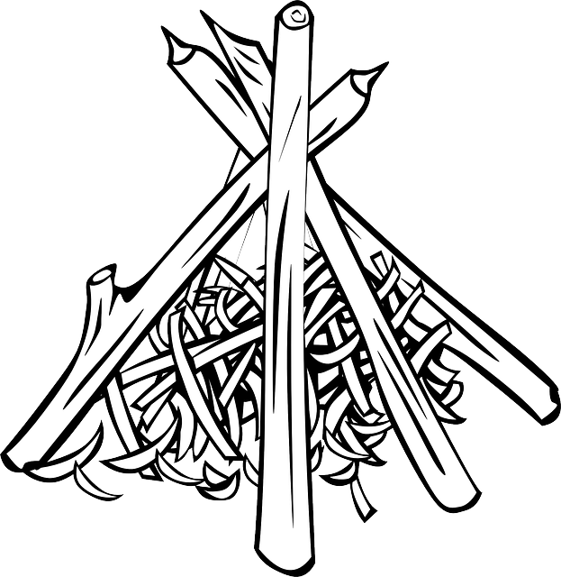 Clipart tent outline. Wood cooking pile campfires
