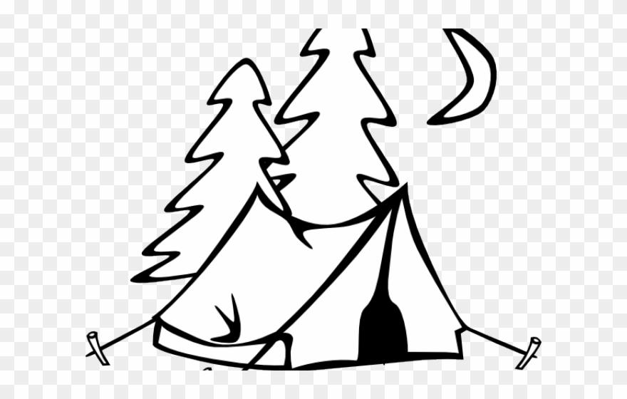 Camp clip art black. Clipart tent outline