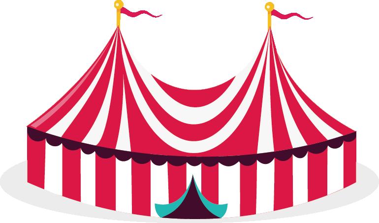 Circus illustration transprent png. Clipart tent pink tent
