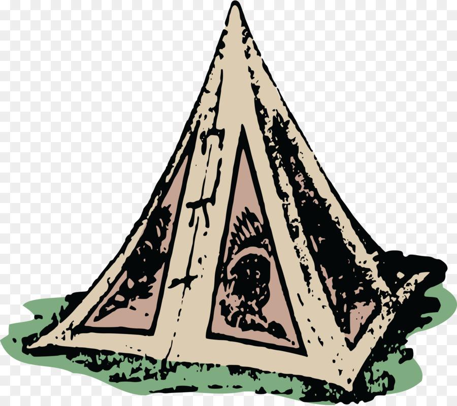 Cartoon triangle tree transparent. Clipart tent pyramid tent