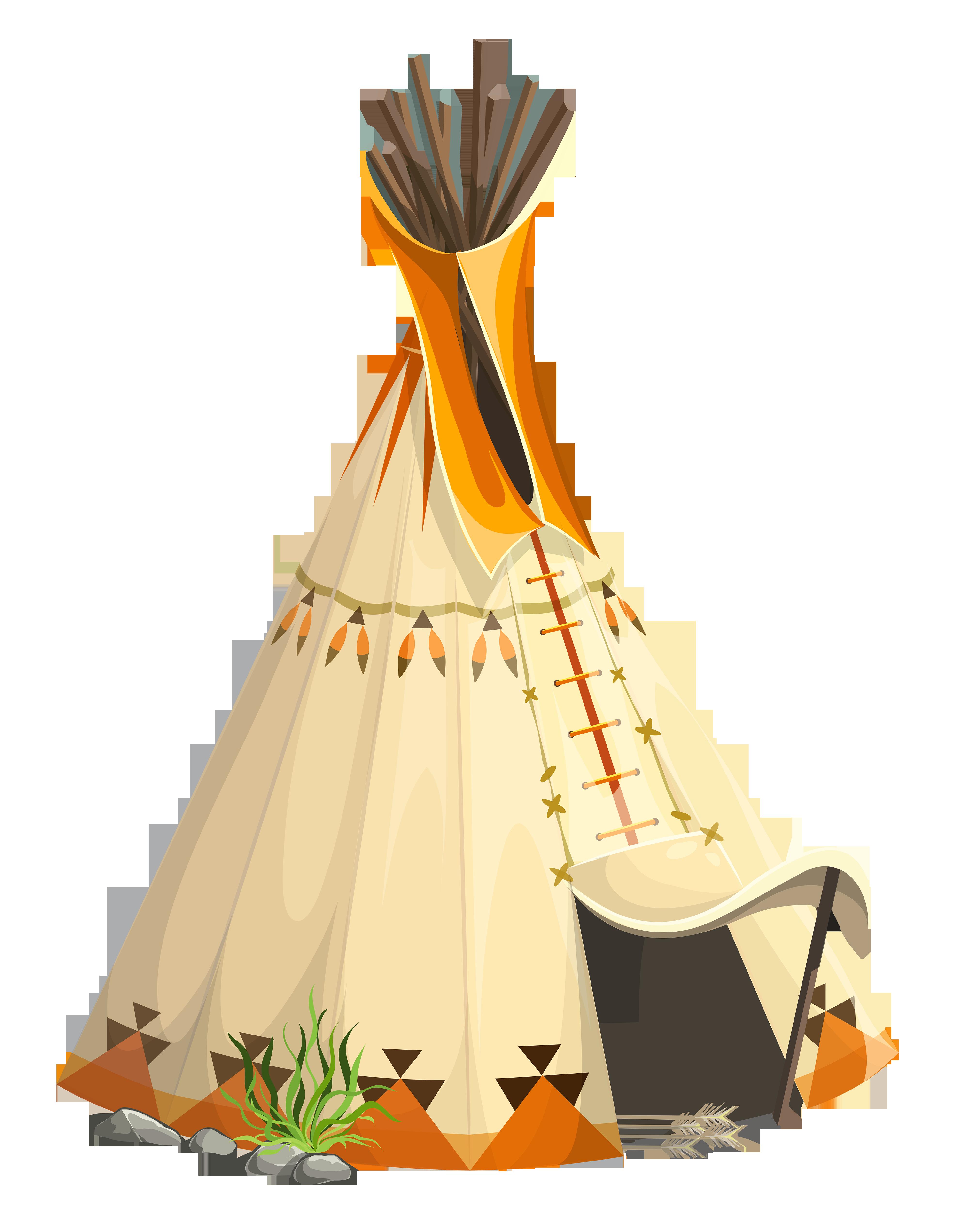 clipart tent tee pee