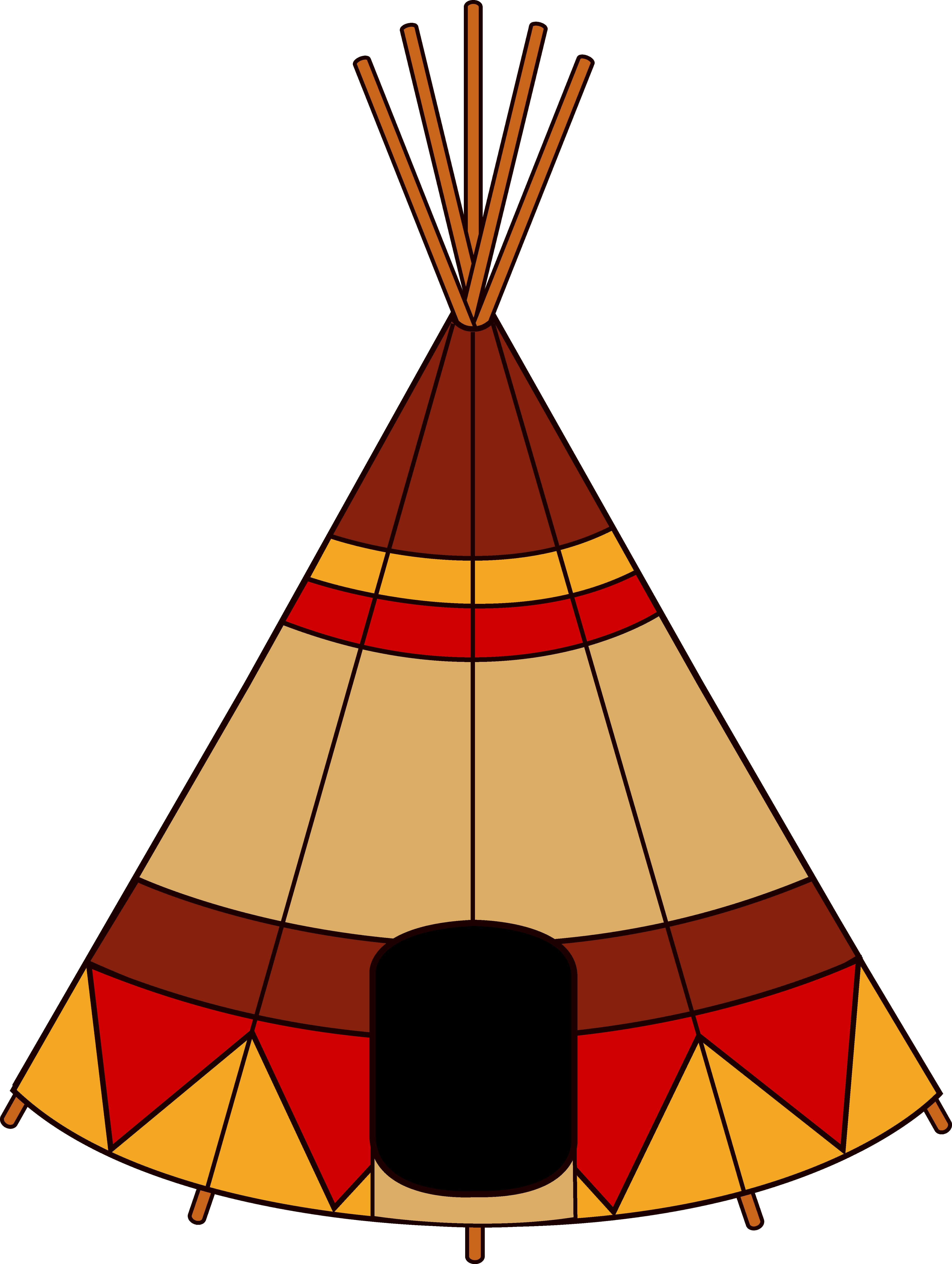 Native american teepee free. Clipart tent tee pee