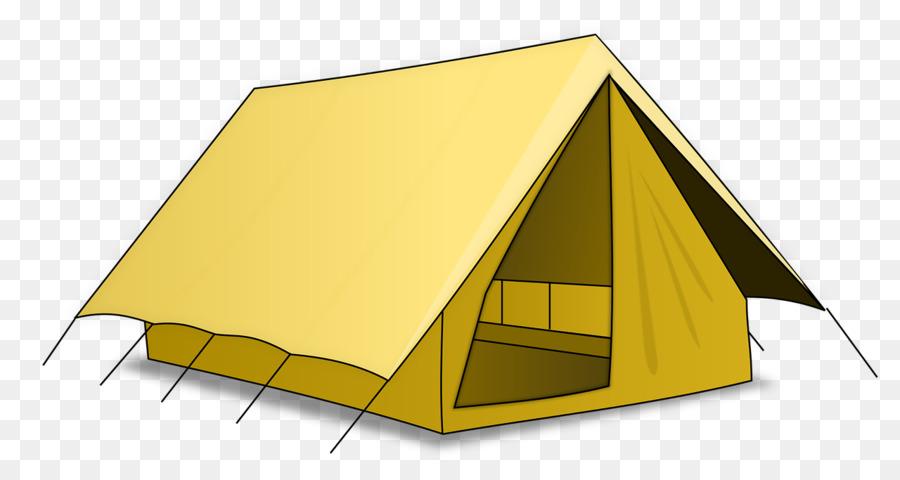 Cartoon camping yellow transparent. Clipart tent tent house