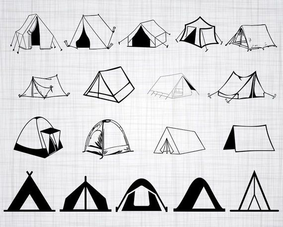 Clipart tent tent house. Svg camping cut files