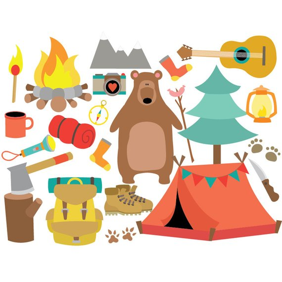 Clipart tent travel. Camping vector set instant