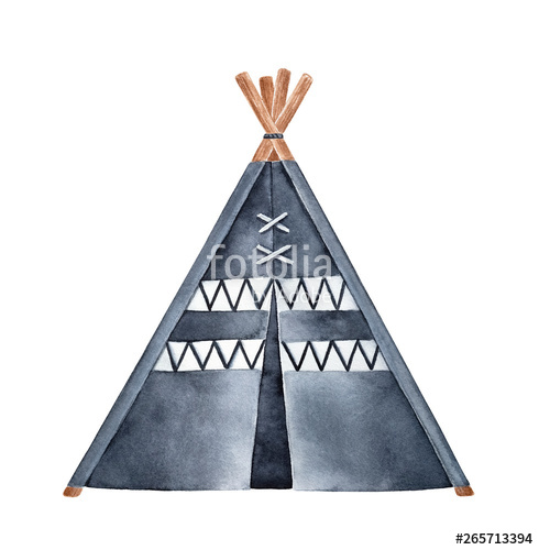 Clipart tent triangle object. Black and white tipi