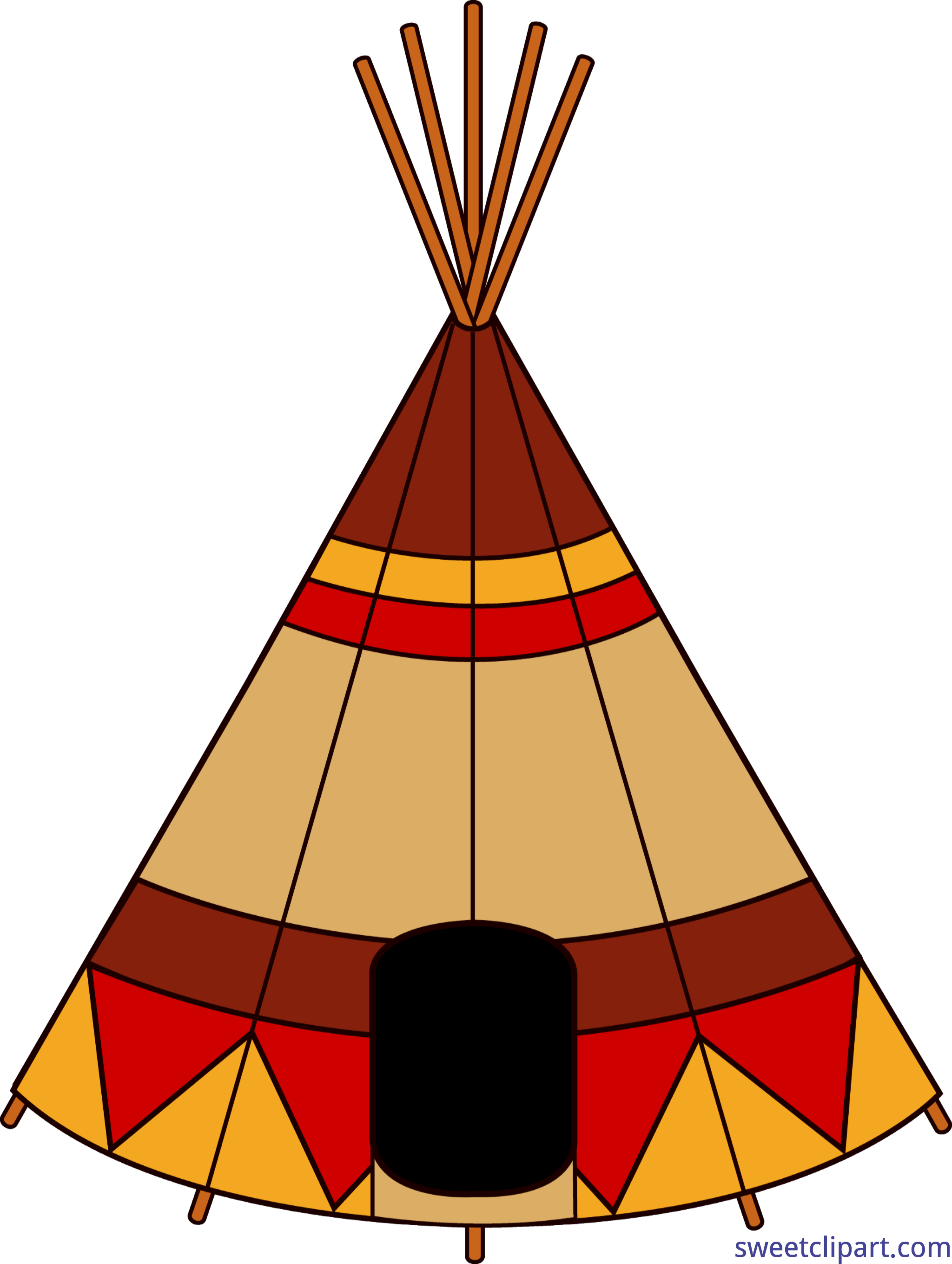 Clipart tent triangle object. Teepee clip art sweet