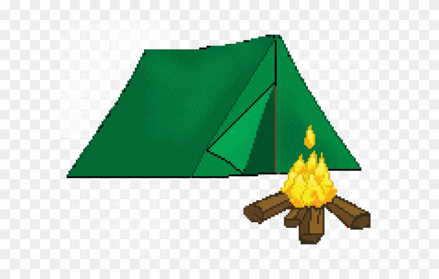 Of a png download. Campfire clipart tent