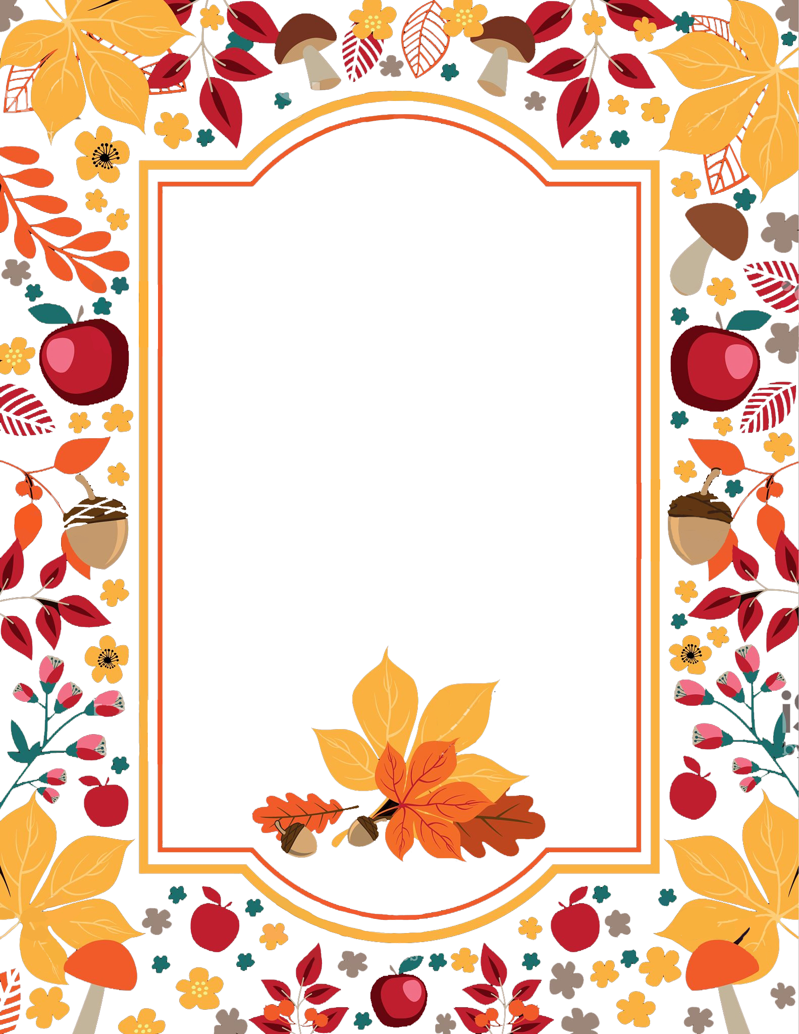 Free flowers border png. Clipart thanksgiving boarder