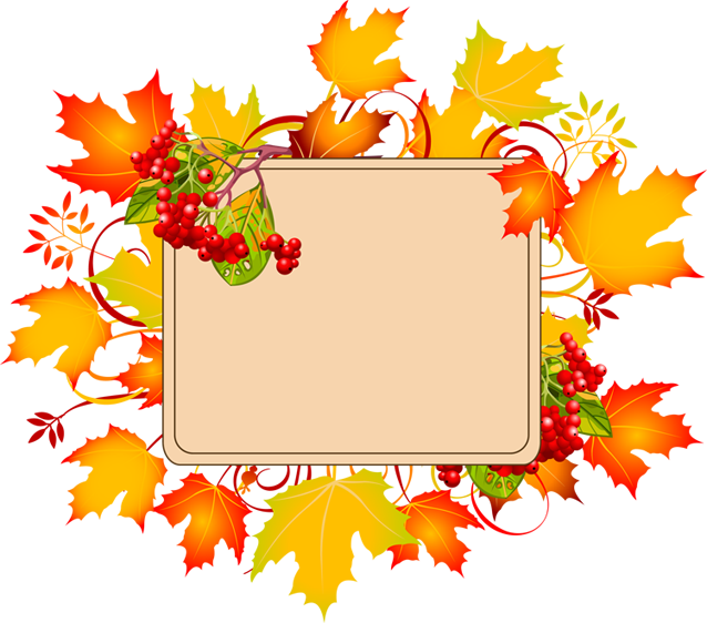 History clipart border. Fall collection leaves clip